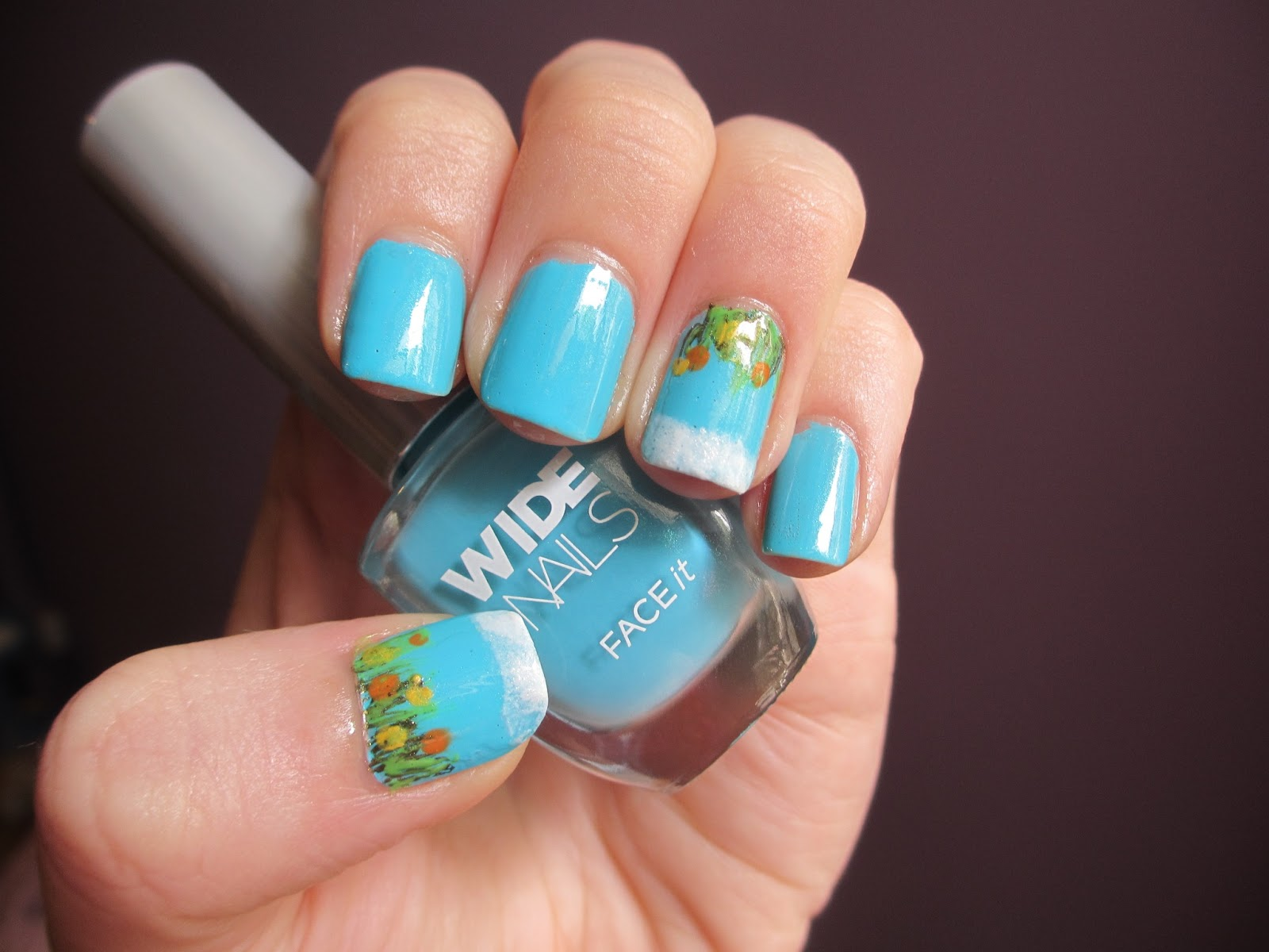 Eileen\'s Nail Diaries: Nail Art - Field of flowers with Face It Wide ...