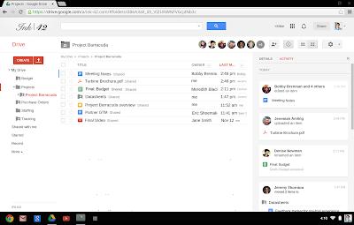 screenshot of new activity stream