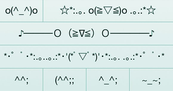 Emoticon Jepang (SERI 8) Emoji Unik, Berlari, Sedih, Ketakutan, dan Malu