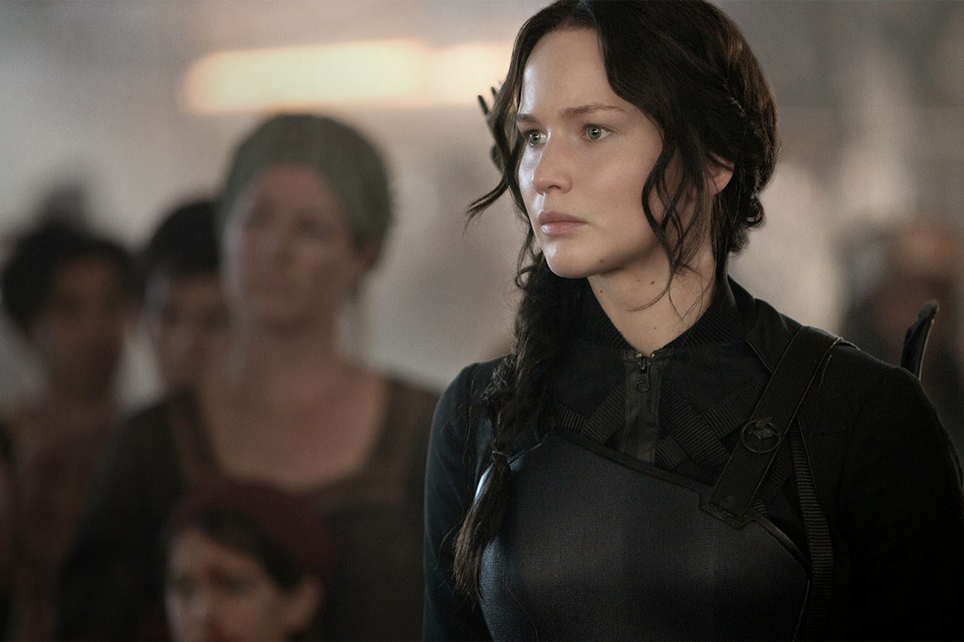 Jennifer Lawrence in The Hunger Games: Mockingjay part 1
