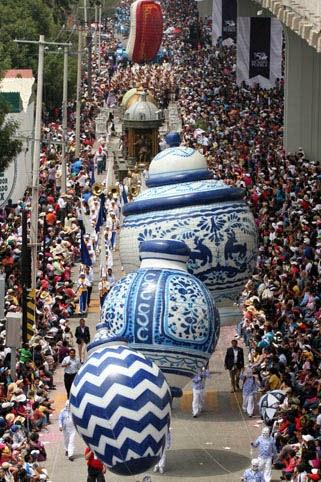 Figuras gigantes de helio para desfiles. | Globos Aerostáticos México