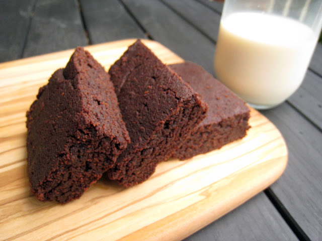 Okara dark chocolate brownies