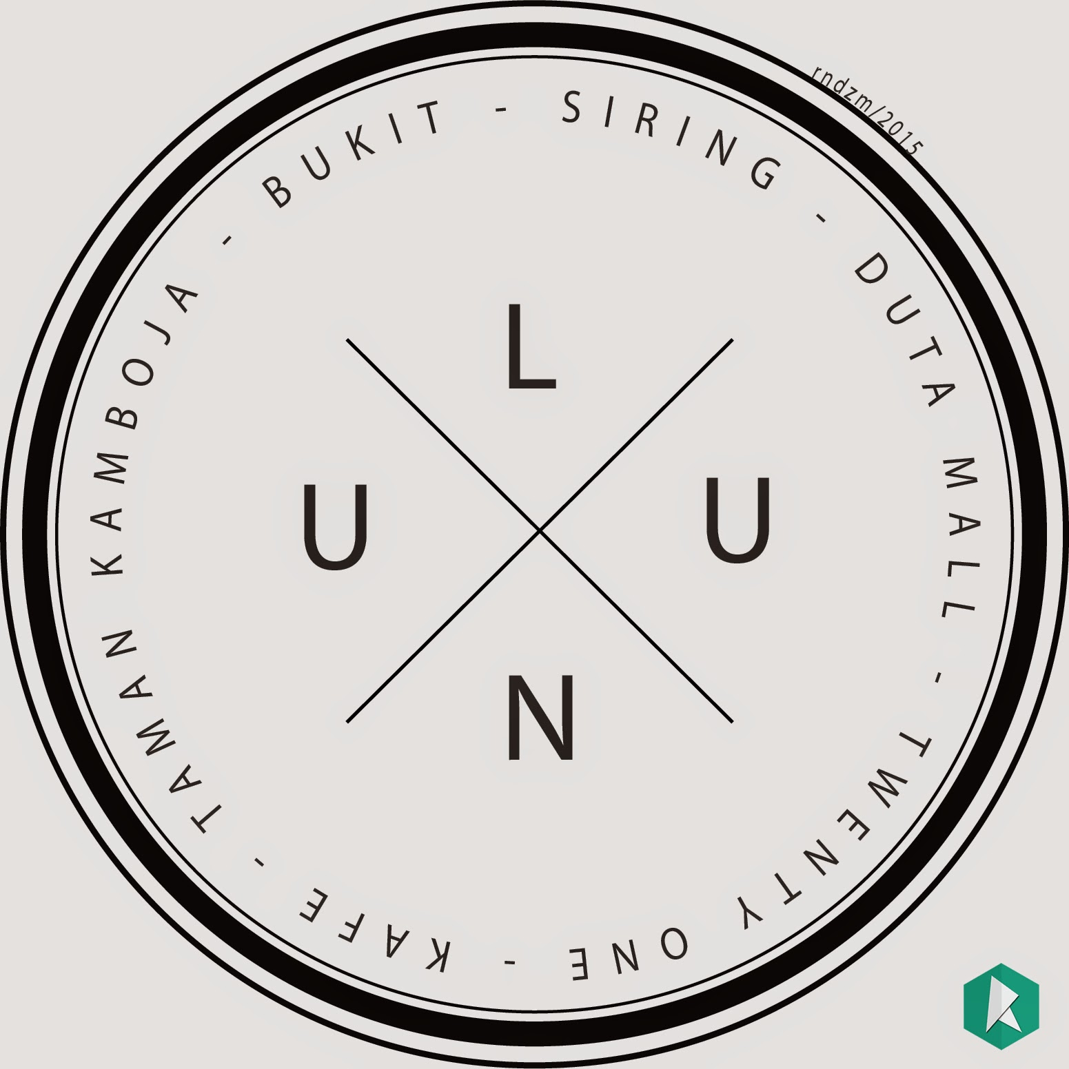 ulun badge vintage logo