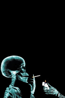 smoking skeleton iPhone 4 Wallpapers