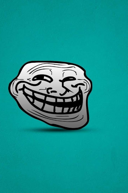 Funny Troll Face best wallpapers for iphone 4  5s 5c 6