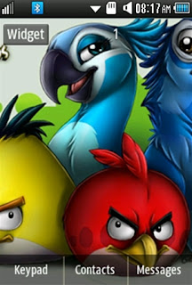 General Angry Birds Samsung Corby 2 Theme 1 Wallpaper