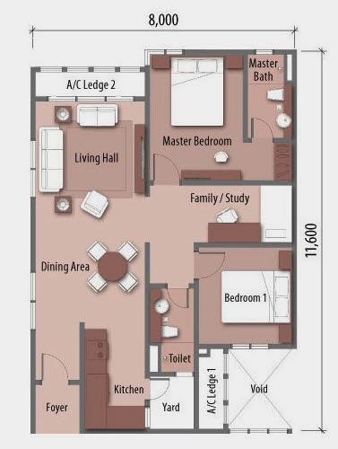 Floor plan feng shui amaya maluri taman maluri for Good feng shui house floor plan