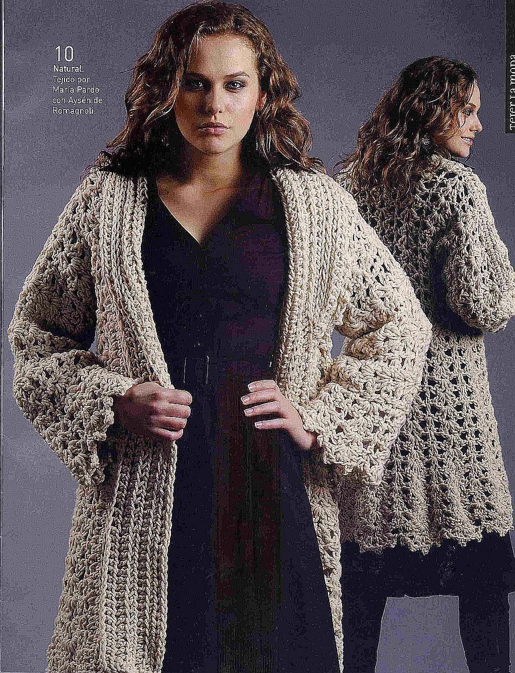 Outro casaco lindo, fácil de fazer e quentinho.