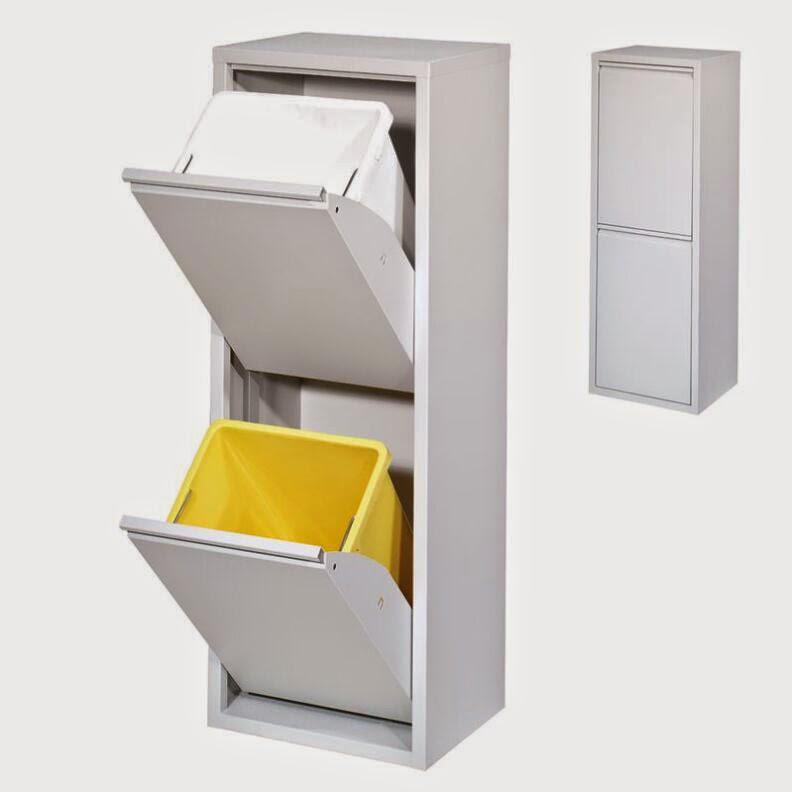 cubo basura reciclaje 2 cajones