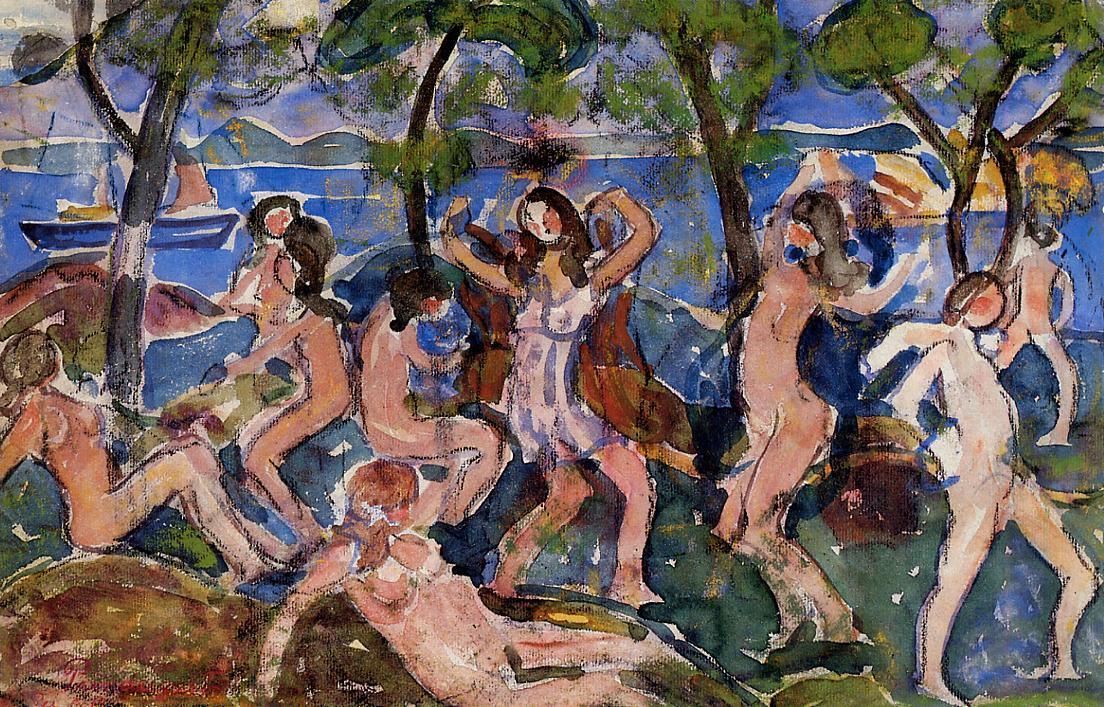 Bathers (1912) by Maurice Prendergast