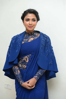 Actress Amala Paul Stills in Stylish Saree at Memu Movie Audio Launch  25282