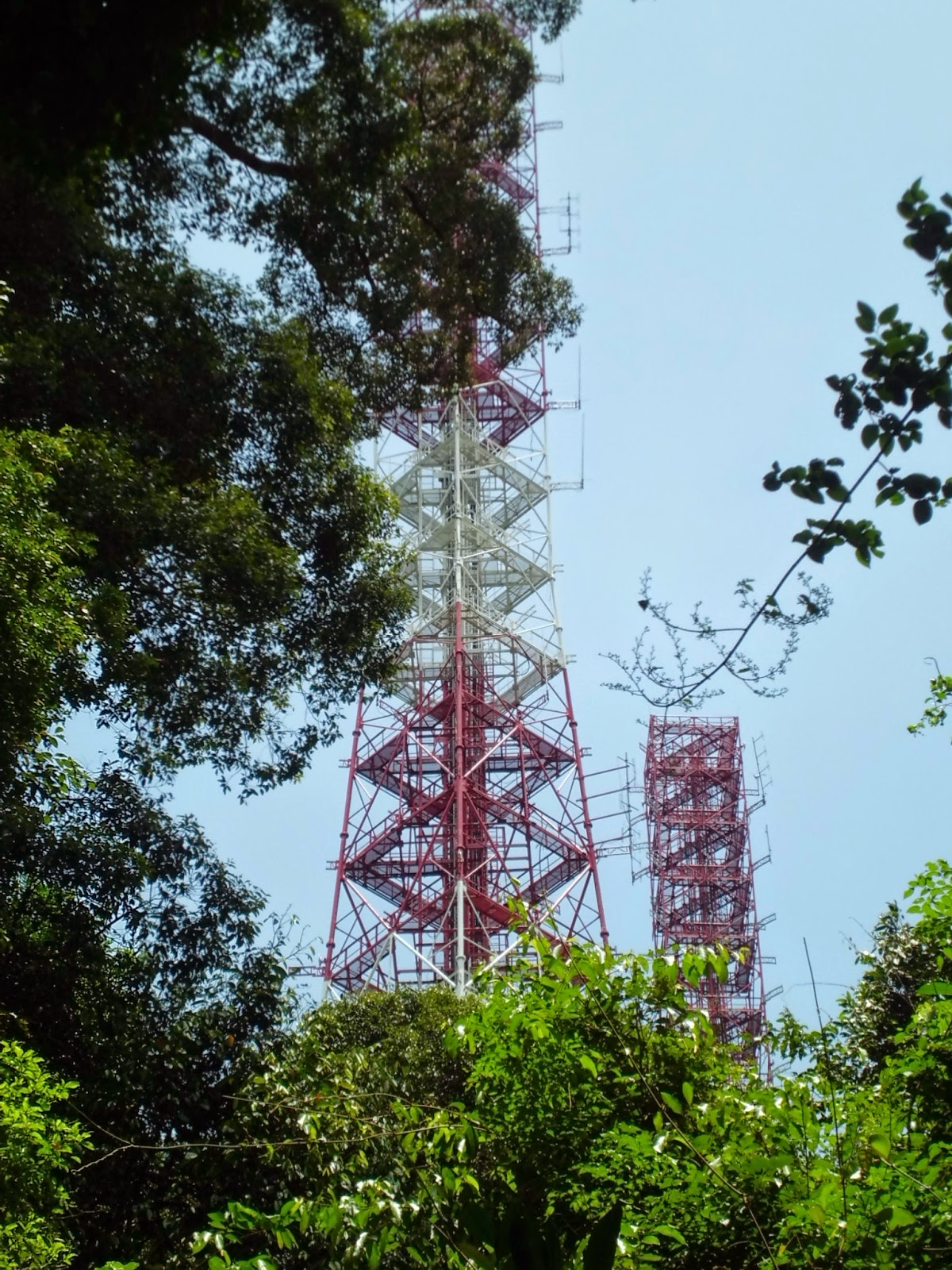 Communication towers antennas (collectively known as TAS VHF station)