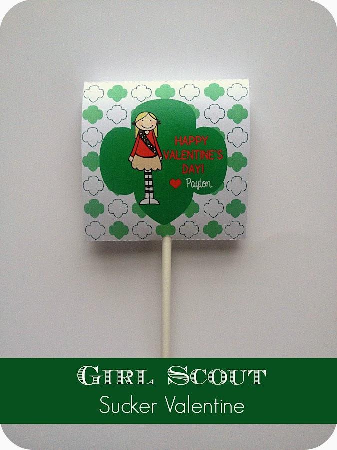 DIY Girl Scout Valentine