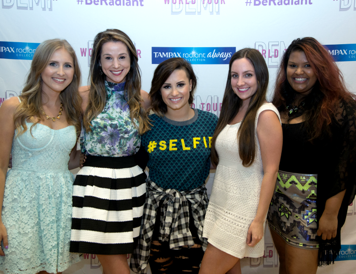 #BeRadiant, Demi World Tour, Tampax, Be Radiant Sweepstakes