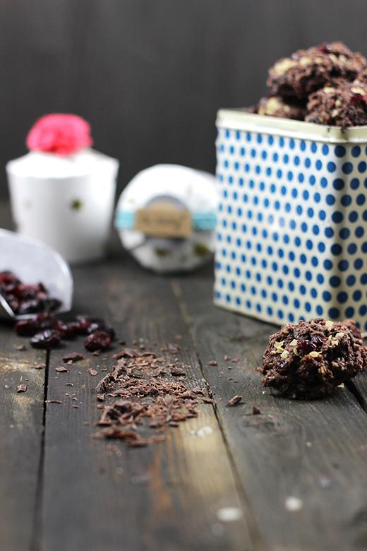 Schoko-Cranberry-Plätzchen, Kekse verschenken und verpacken