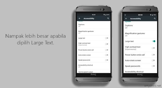 Cara Membesarkan Saiz Font Android