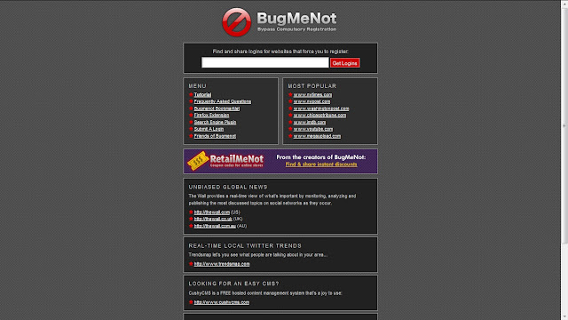No Need to Sign Up For To Download any file from any website.Its a website www.bugmenot.com . In which you get almost all Downloading websites user name and password Free.