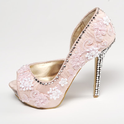 sparkling bridal shoes