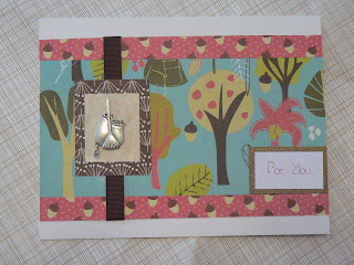 Thanksgiving card with pewter charm
