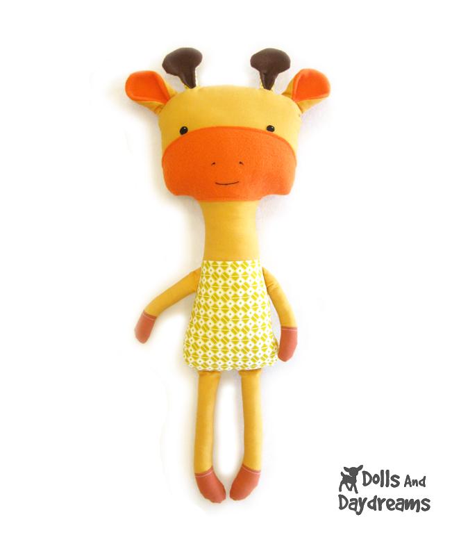 Giraffe Softie Stuffed Toy PDF Sewing Pattern Finished!