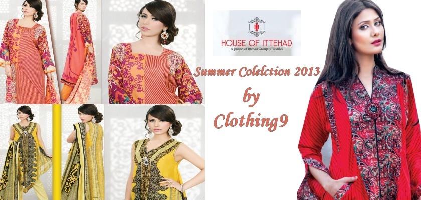 ITTEHADRangoli2013 clothing9blogspotcom - Ittehad Lawn Embroidered