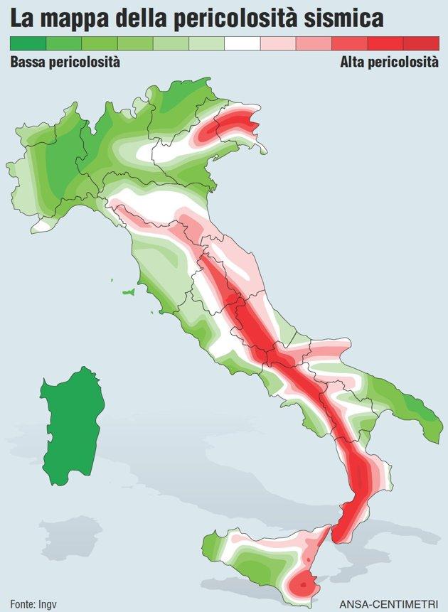 O salto da bota maio 2012 for Mappa sismica italia