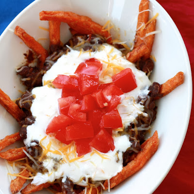 black bean chili fries