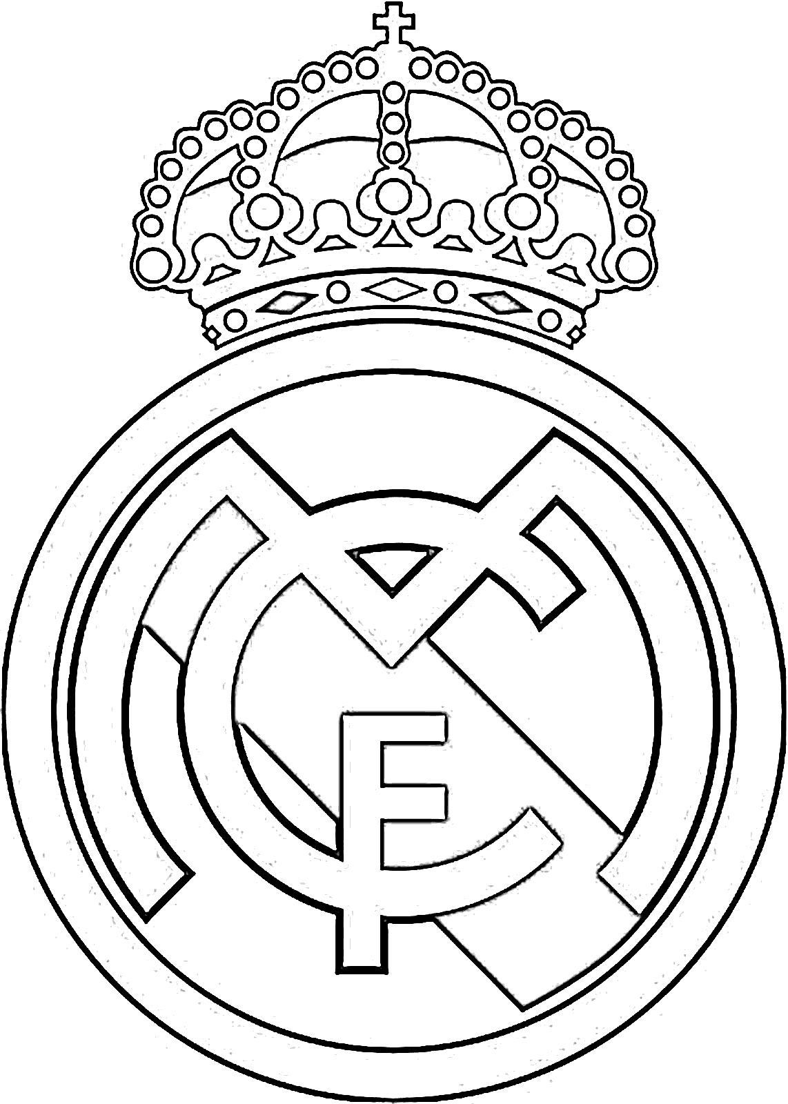 Escudo Del Atletico De Madrid Para Colorear   Dibujos Para