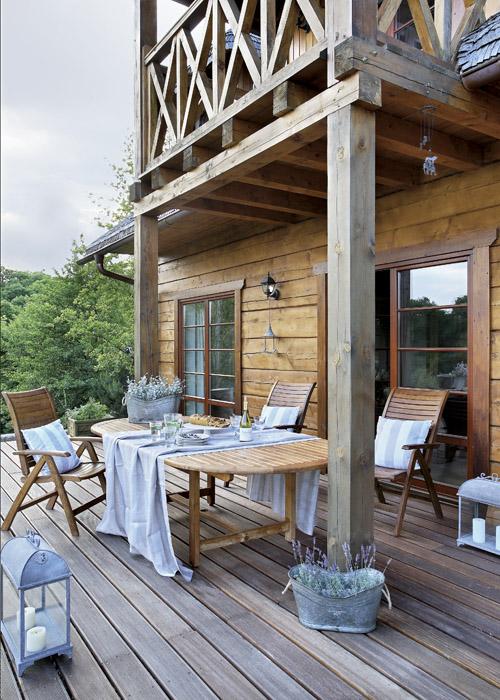 Как сделать балкон загородного дома