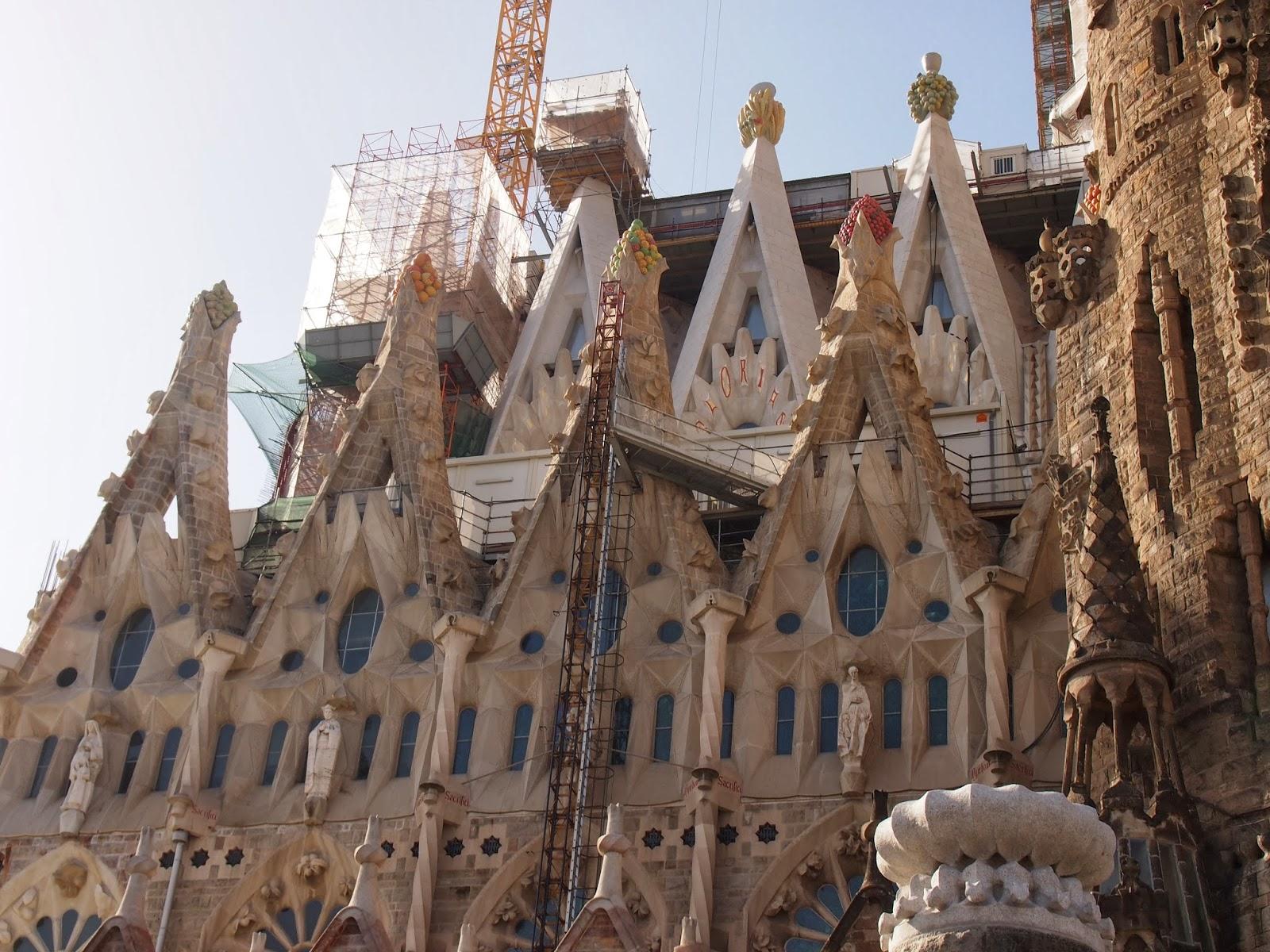La Sagrada Familia under construction