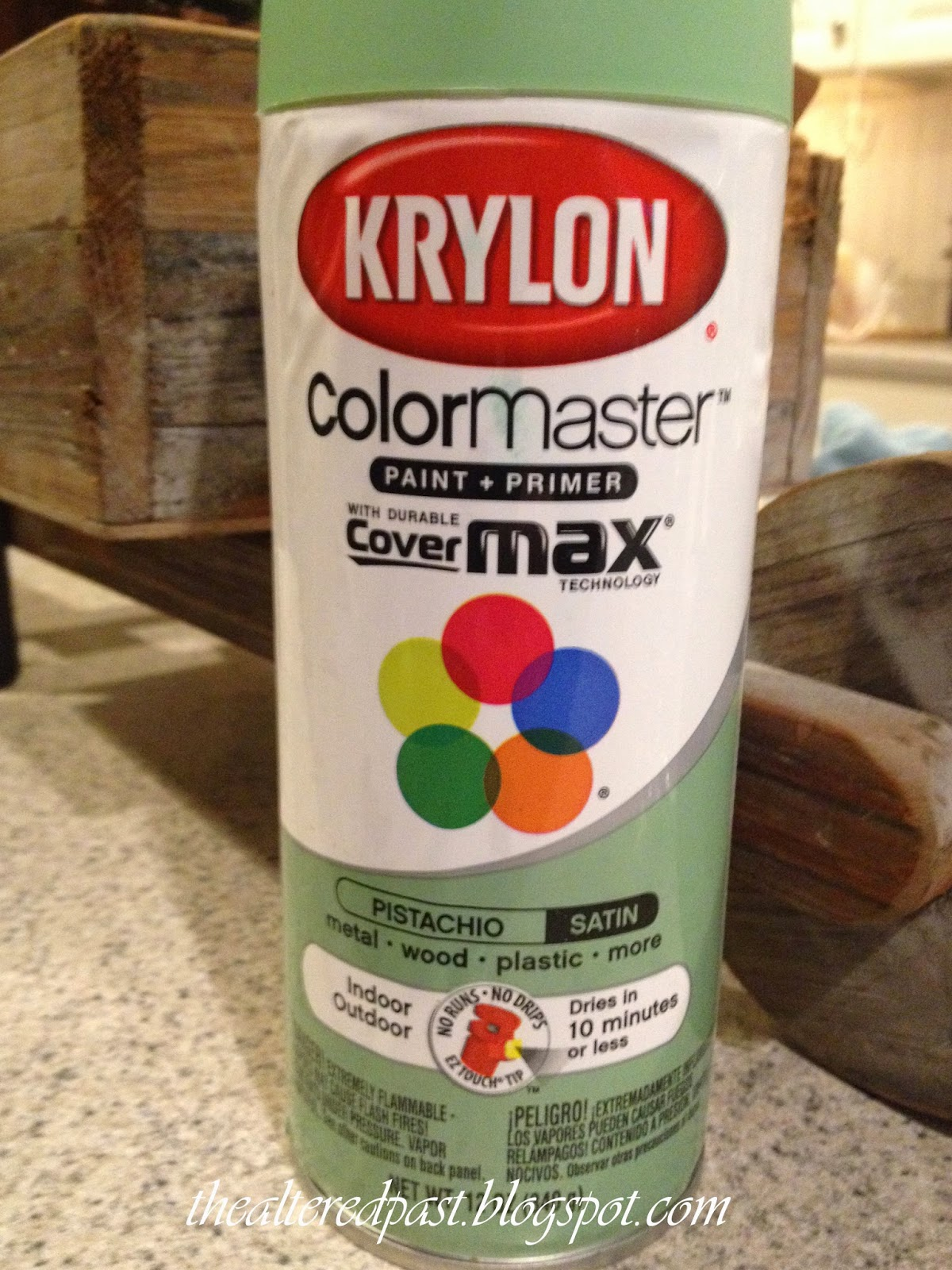 Krylon pistachio satin spray paint