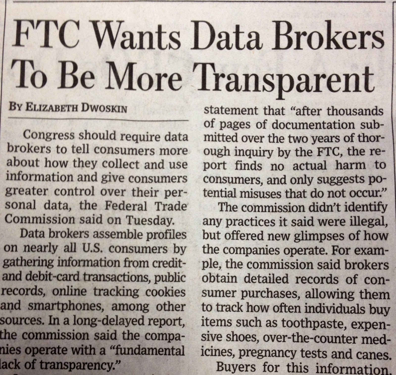 FTC Wants Data Brokers To Be More Transparent