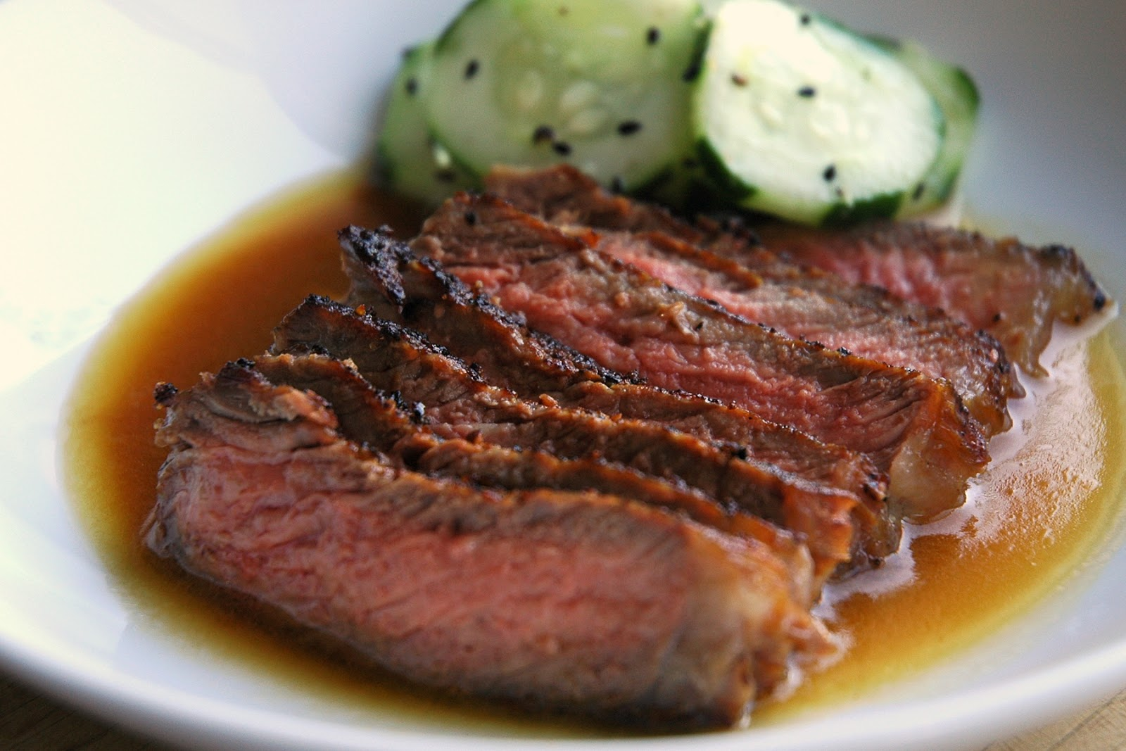 ... up with this quick and easy recipe for Seared Steak with Ponzu Sauce