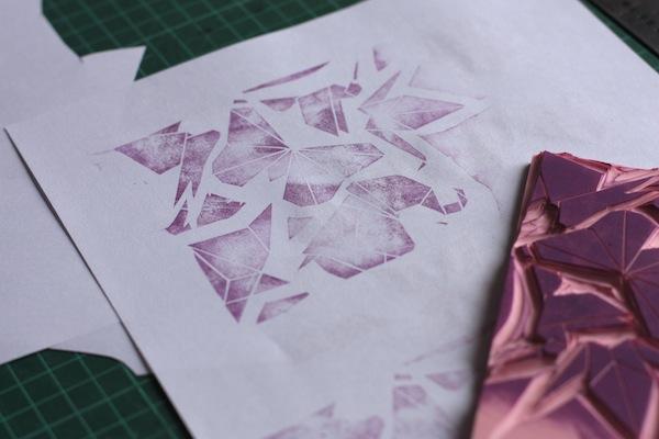 Ro Guaraz · bolsa origami · 07 · primera prueba