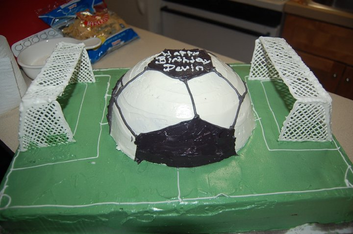 Buttercream Soccer Cake This Was A Birthday For 5 Year Old Boy
