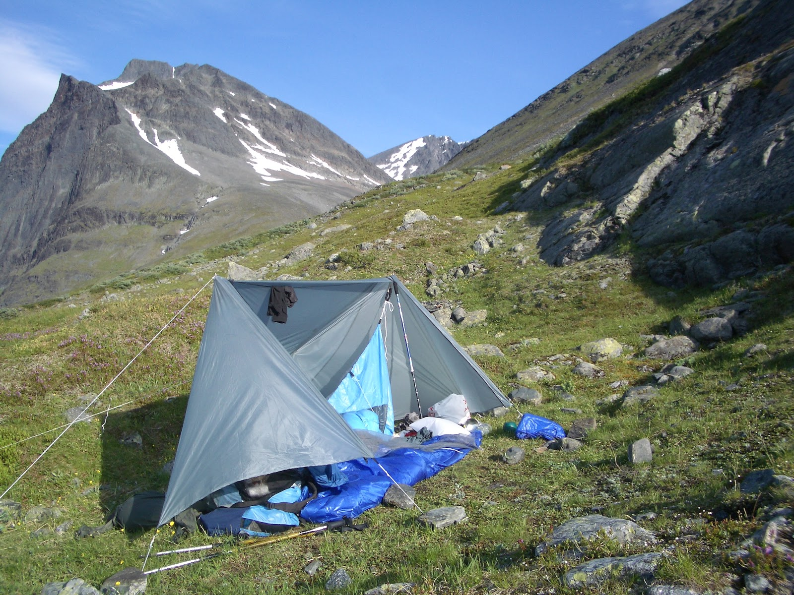 Homemade tarptent near Kebnekaise Swedish Lapland & Coast to Coast Sweden: Gear - Shelter for C2C