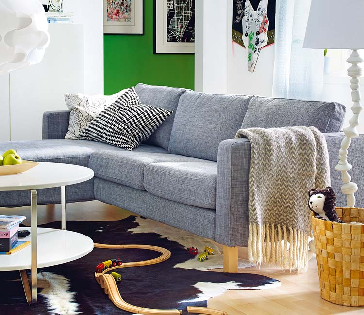Blog de decorar sala de tv decorada com sof nico e chaise - Como arreglar un sofa ...