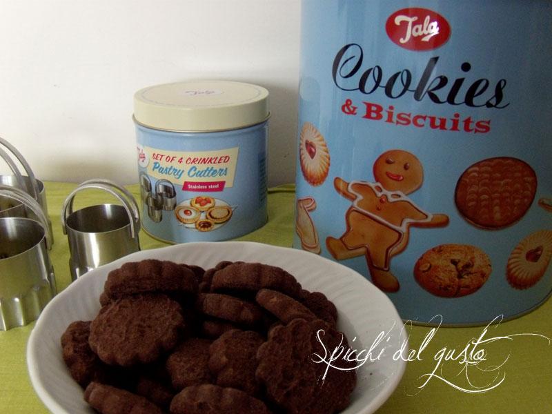 Biscotti di cioccolato e caffè senza glutine