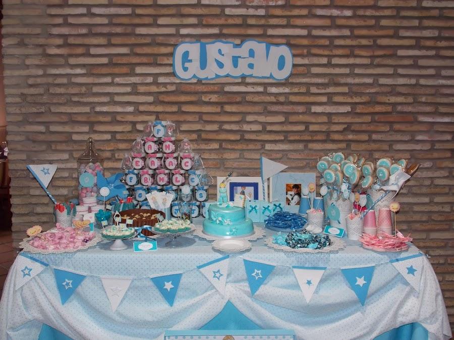 Mesa dulce para comuniones - Como hacer centros de mesa con dulces para bautizo ...