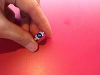 中古 青いサファイア 1.7ct メレダイヤモンド 三越 リング #12