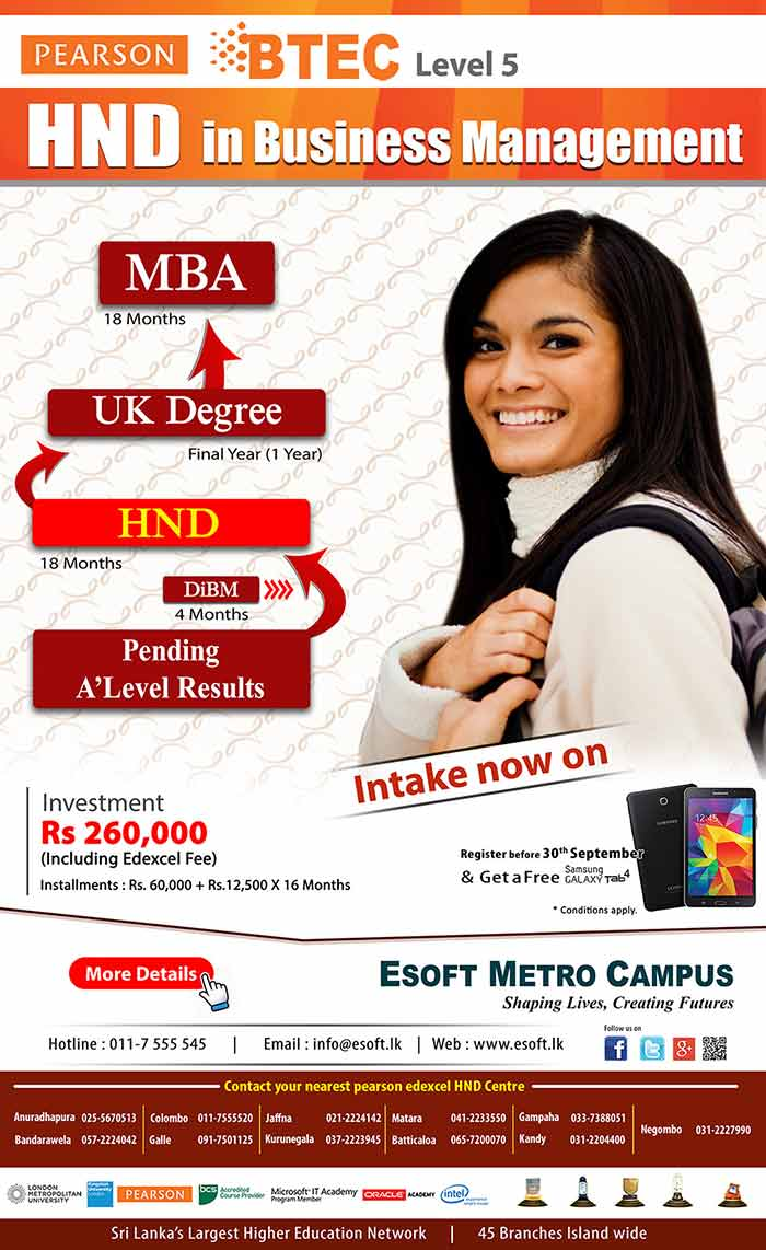 The Programme Consists of 16 Modules covered as 4 subjects per semester. 4th semester is decided based on student's preference from given option.The programme covers 240 Credits which can be transferee to the last year of any British undergraduate DEGREE (E.g. London Metropolitan University -UK) .