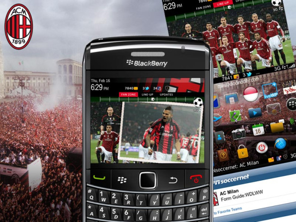 Themes Blackberry AC Milan Terbaru