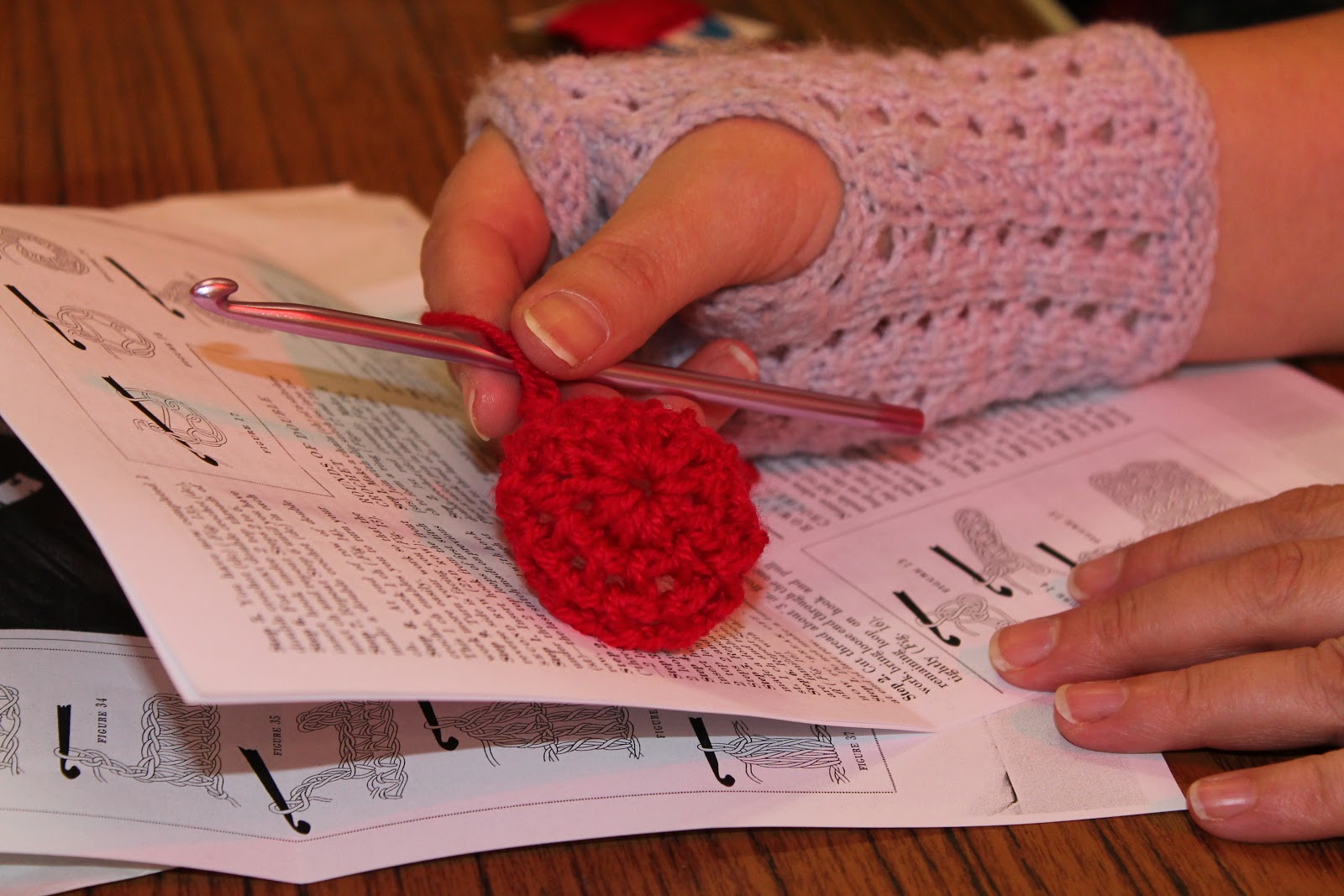 Knit Natter And Stitch New Bradwell : Knit, Natter & Stitch : Crochet Relief efforts raise cash for Red Nose Da...