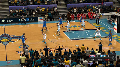 NBA 2K13 Mods New Orleans HD Court Patch