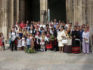 Bejaranos en Palma de Mallorca celebrando la Virgen del Castañar