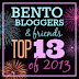Bento Bloggers & Friends Top 13 of 2013