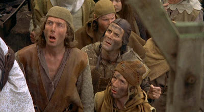Eric, John, and Michael in Monty Python and the Holy Grail