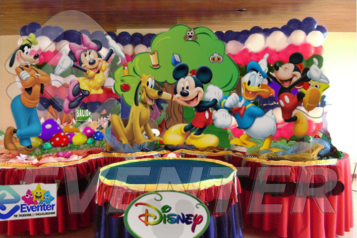 Servicio de decoraci n para fiestas y eventos infantiles for Decoracion la casa de mickey mouse