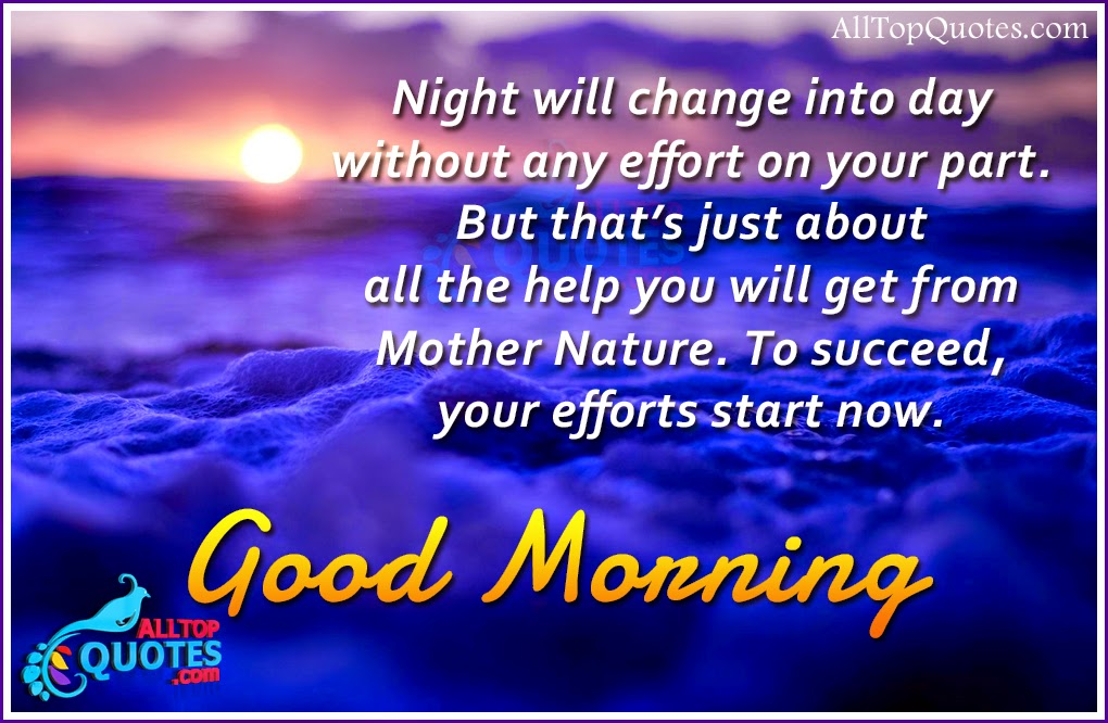 NIce Good Morning Quotes in English | All Top Quotes | Telugu Quotes ...