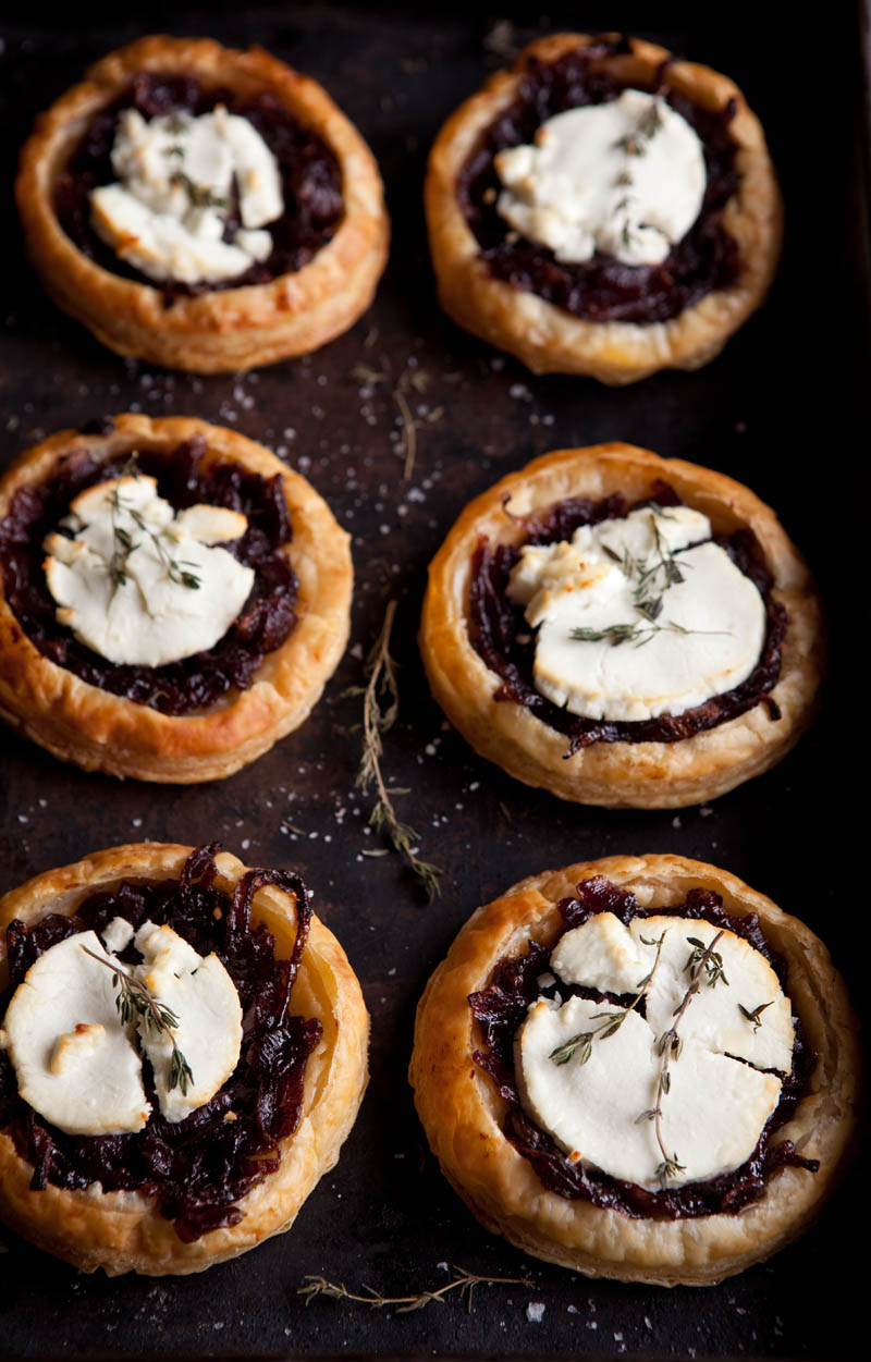 ... French Food Friday...Red Wine Caramelised Onions Goats Cheese Tartlets